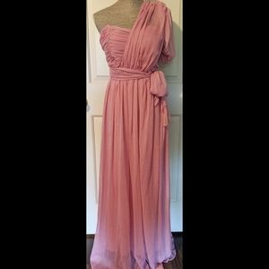 Elegant Rose Pink gown size uk 12/ fits US 6